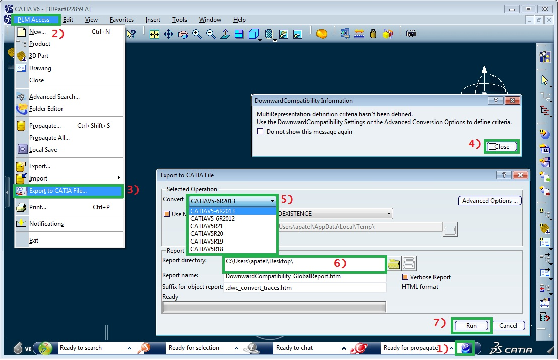CATIA V5 Save As Screenshot